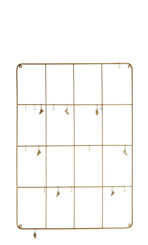 Wall Frame with Hooks & Clamps - Medium