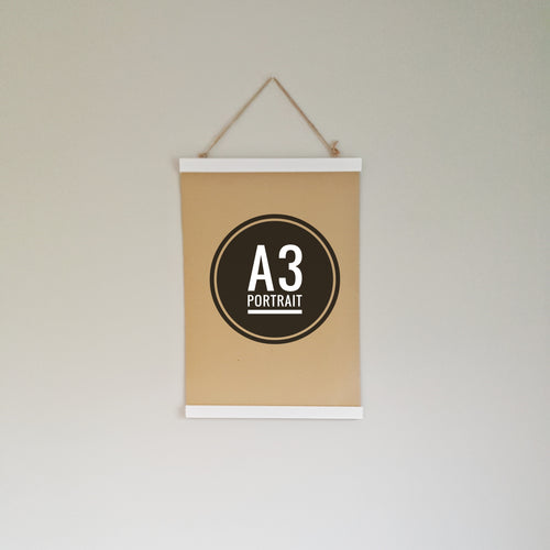 White Print Hanger - Small