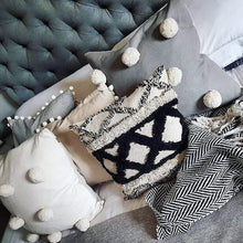 Monochrome Boho Cushion