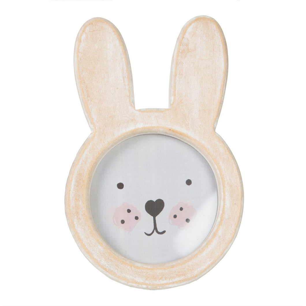 Bunny Face Rustic Wood Photo Frame