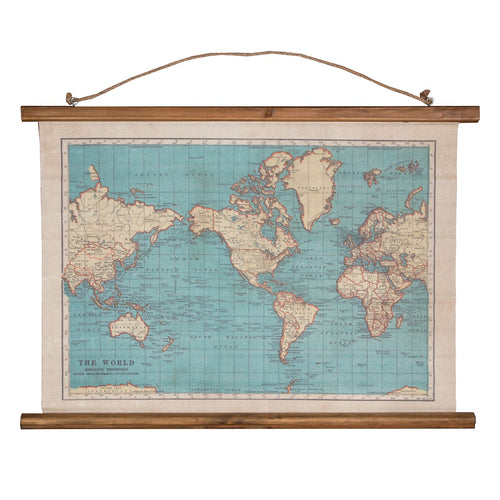 Vintage Map Wall Hanging