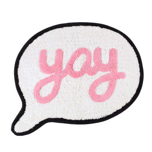 Yay Speech Bubble Rug