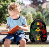 African mask back pack