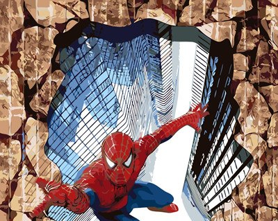 3D Spiderman painting by numbers