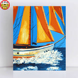 Colourful sailboat