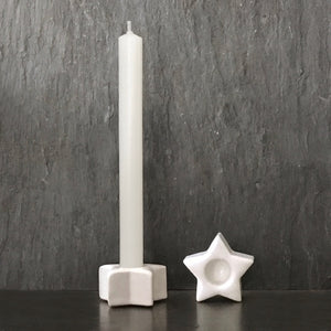 Porcelain Star Candle Holder And Candle