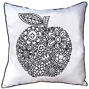 Colour In Cushion Apple Design