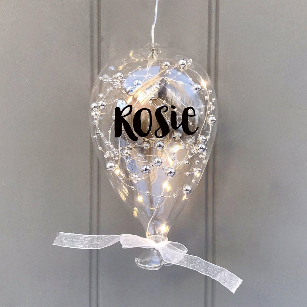 Light Up Personalised Glass Balloon