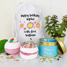 Happy Birthday Bath and Candle Set