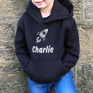 Children's Personalised Hoodie Rocket