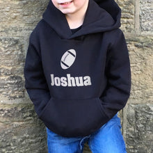 Children's Personalised Hoodie Rugby
