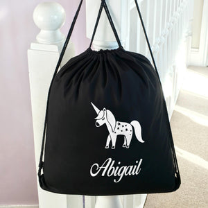 Personalised School PE Bag Unicorn
