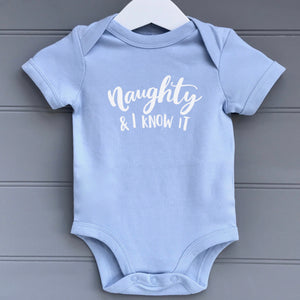 Personalised  Baby Grow Naughty