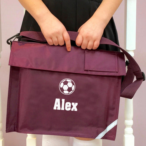 Personalised School Bag Football