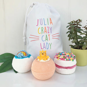 Crazy Cat Lady Bath And Candle Set