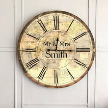 Mr and Mrs World Map Clock