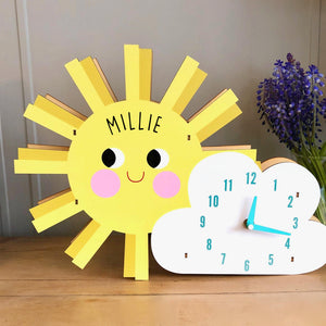 Personalised Sun and Cloud Clock