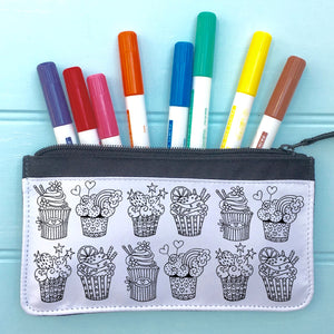 Cupcakes Pencil Case To Colour In