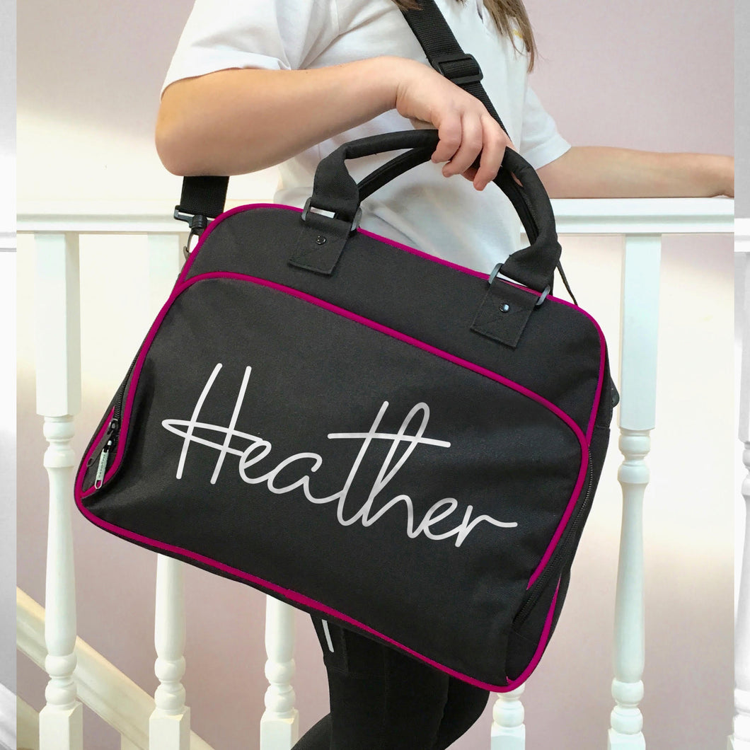 Personalised Handwritten Font Dance Bag