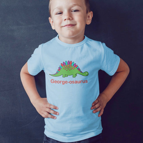 Personalised Stegosaurus T-Shirt