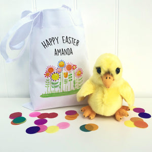 Personalised Easter Bag With Fluffy Chick