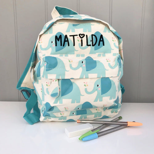 Personalised Child's Elephant Backpack