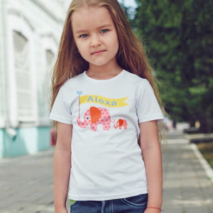 Personalised Elephant Name T-Shirt