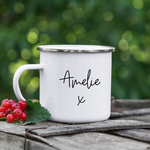 Personalised Enamel Name Mug