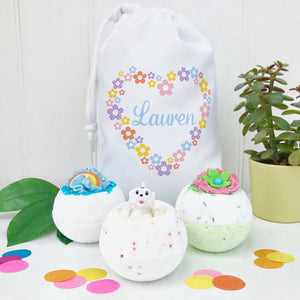 Personalised Children's Bath Bomb Set