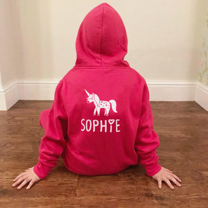 Girls Unicorn Personalised Onesie