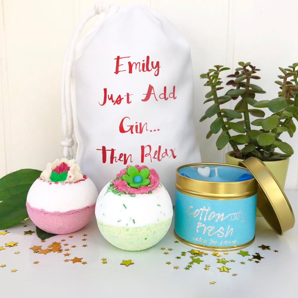 Personalised Just Add Gin Bath Bomb Set
