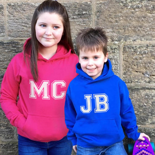 Children's Personalised Initials Hoodie
