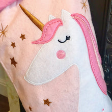 Christmas Unicorn Personalised Stocking