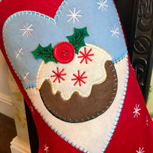 Christmas Pudding Personalised Stocking