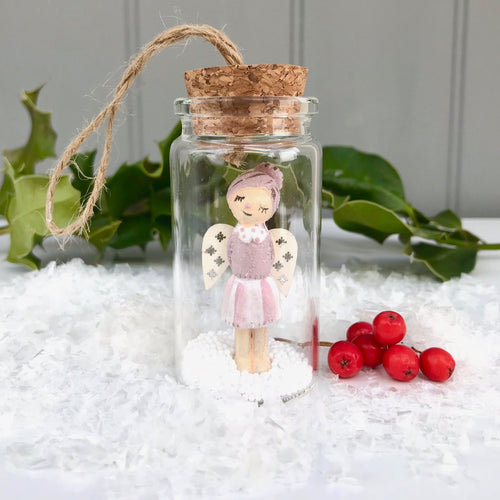 Christmas Angel in Hanging Jar