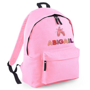 Ballet Applique Personalised Backpack