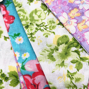 Vintage Style Floral Bunting