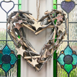 Christmas Twig Heart Wreath
