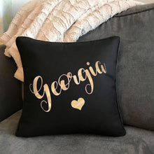 Personalised Glitter Star/Heart Cushion