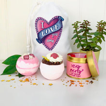 Valentine Bath Bomb and Candle Set