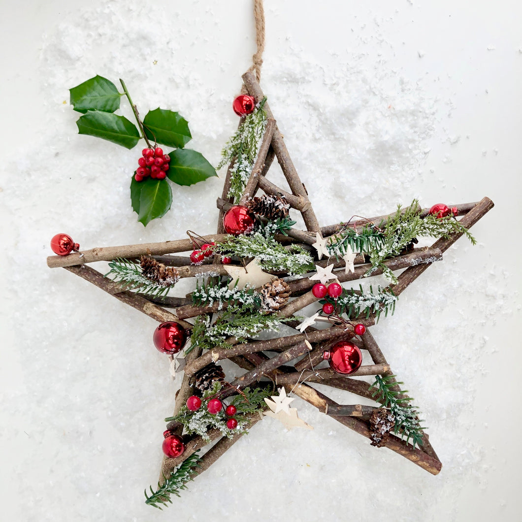 Large Twig Star Decoration