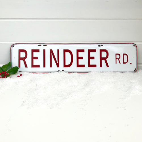 Christmas Metal Rudolph Sign