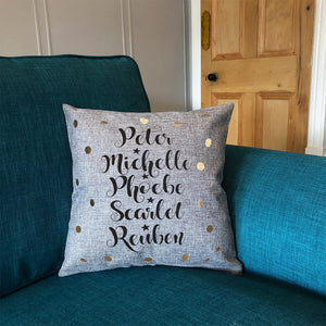 Cushion With Family Names