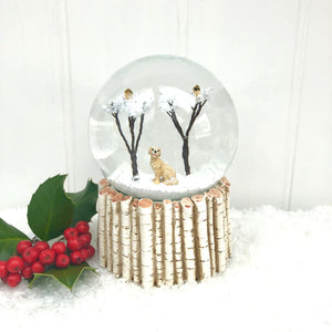 Christmas Snow Globe with Dog