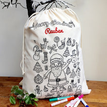 Christmas Sack to Colour In