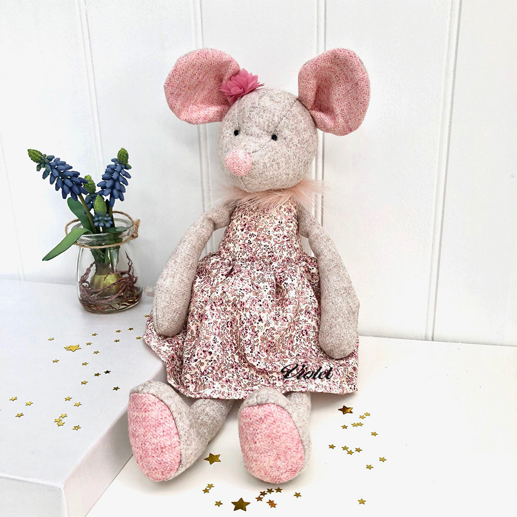 Personalised Tweed Toy Mouse