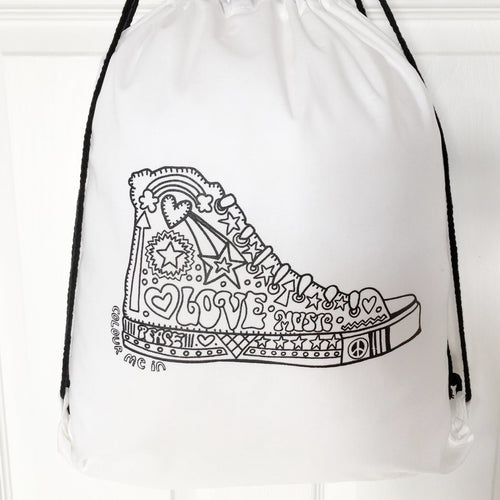 Colour Me In Hi Top Drawstring Bag