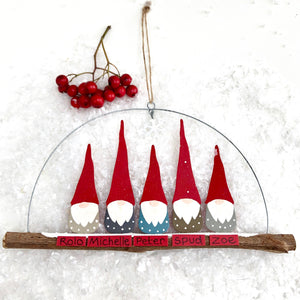 Christmas Family Of 5 Elves Decoration