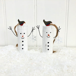 Wooden Snowman Hanging Decoration