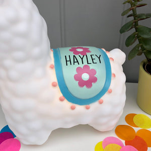 Personalised Llama LED Night Light